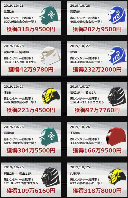 競艇レンジャー_的中実績01